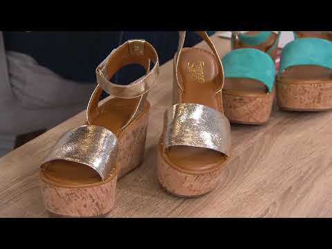 e9c2195ac00a Franco Sarto Ankle Strap Wedges - Jovie on QVC - YouTube