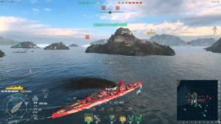 World of Warships ARP Haguro Part3 Team Battle mercenary