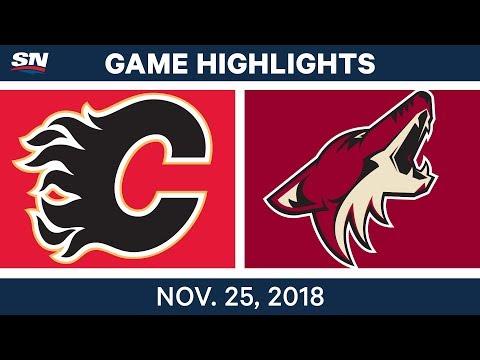 NHL Highlights | Flames vs. Coyotes – Nov. 25, 2018