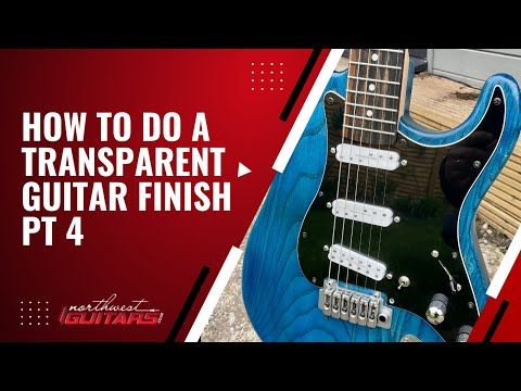 Painting a guitar body in nitrocellulose transluscent colour Pt 4 - Colour