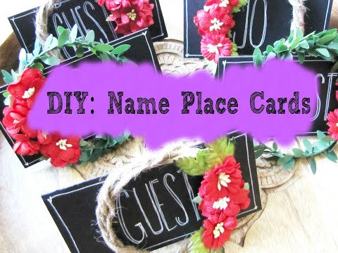 DIY: Holiday Name Place Cards
