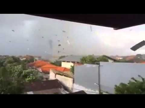 Typhoon in Bali, Indonesia