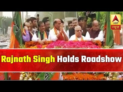 Rajnath Singh Holds Roadshow Ahead Of His Nomination  | ABP News