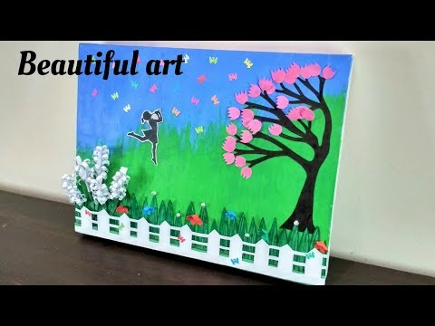 Beautiful Room Decorating Ideas | Painting Technique for Beginners | DIY Wall decor | room decor