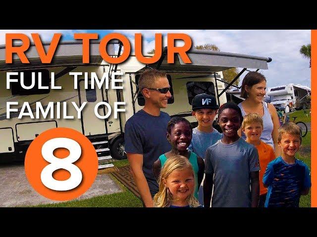 RV TOUR Full Time Family of 8