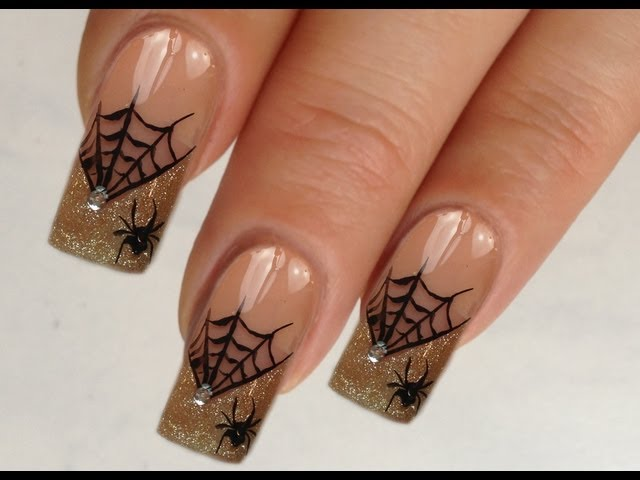 Spider\'s Web - 15 Halloween Nail Art Tutorials You Will Love ... …