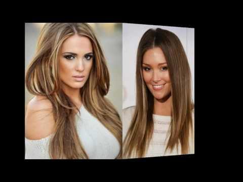 Frisuren braune haare mit blonden strähnen