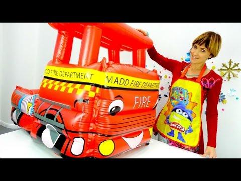 Видео для детей - Плей До и Веселая школа - Мультик про мусоровоз.