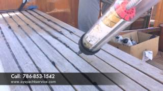 TEAK DECK, RE-CAULKING