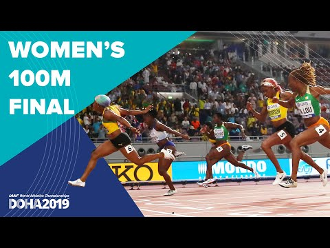 Women's 100m Final   World Athletics Championships Doha 2019