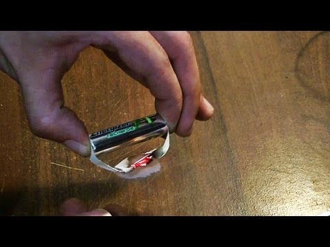 Как сделать зажигалку из батарейки