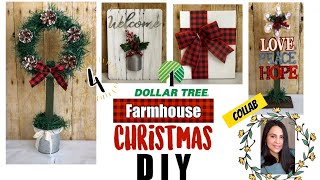 4 Dollar Tree Christmas DIYs | Farmhouse Home Decor