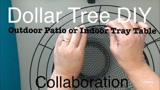 DOLLAR TREE DIY FARMHOUSE OUTDOOR PATIO or INDOOR TRAY TABLE || 4th of July Collab Reunion