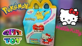 Que Juguetes regalan en McDonalds este Mes? Happy Meal de Pokemon y Hello Kitty