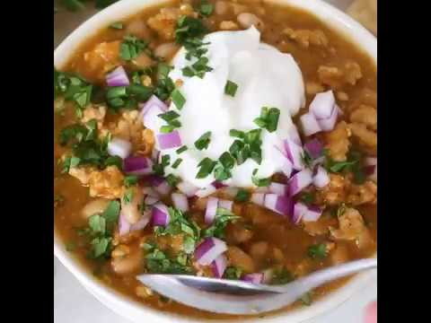 Turkey Pumpkin White Bean Chili (Slow Cooker Or Instant Pot)