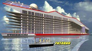 США начали строить гигантский город плавающий по морю. Tитaнuк отдыхает