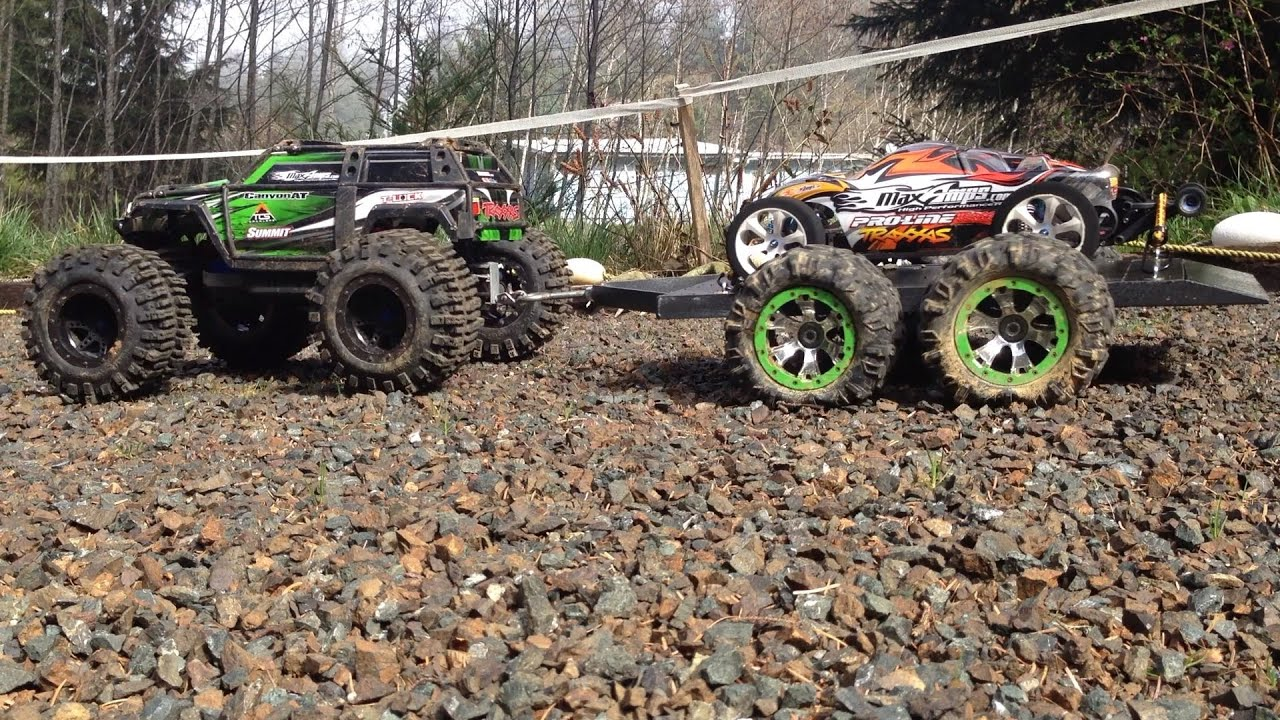 Rustler Run Footage And Rc Trailer
