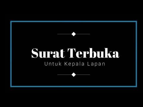 MEMBAHAS ISI SURAT TERBUKA UNTUK KEPALA LAPAN DARI INDONESIAN FLAT EARTH SOCIETY.