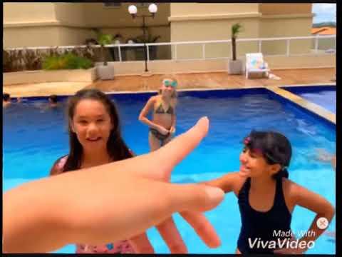 Desafio da piscina, com fale qualquer coisa!💕❤️