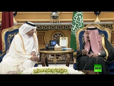 الملك سلمان يستقبل رئيس وزراء قطر لحظة وصوله الرياض  - نشر قبل 2 ساعة