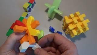 Обзор головоломок из пластика, для детей и взрослых !!!
