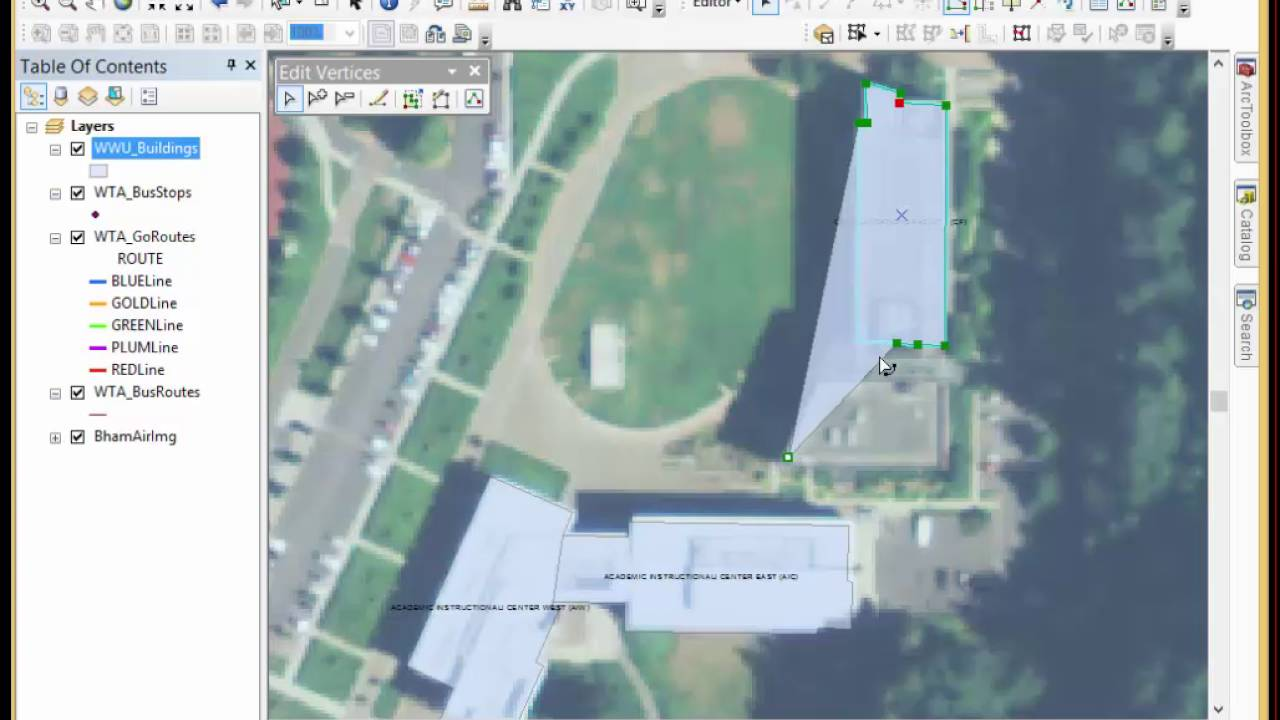 QuickDemo: Editing Building Footprint Polygons and Shared Features with the  Topology Tool