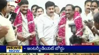 Telugu News - Chiranjeevi Postponeed As Servant of Congress (TV5)
