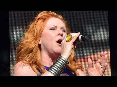 Carol Decker of TPau performing Heart and Soul at Lets Rock Bristol 2014