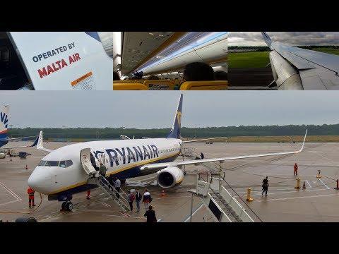 Malta Air (Ryanair) Boeing 737-8AS Cologne Bonn To Manchester | Full Flight