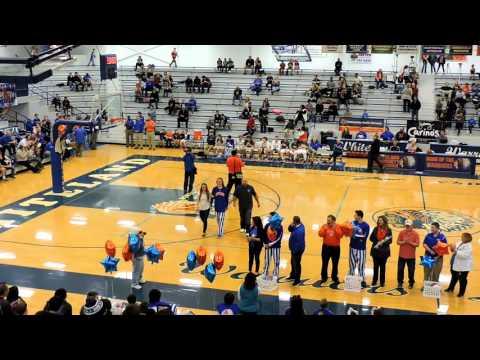 Whiteland Community High School Senior Player Introductions