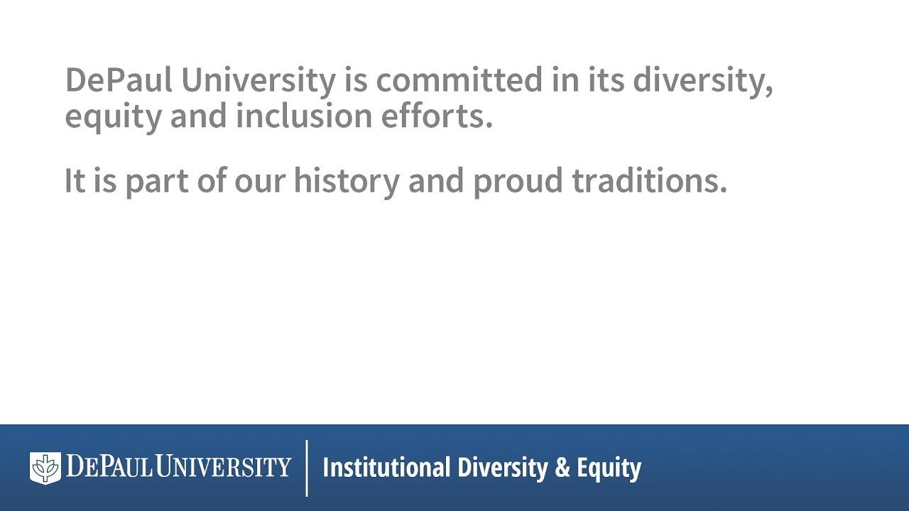db531596db0 DePaul President A. Gabriel Esteban, Ph.D., speaks about diversity ...