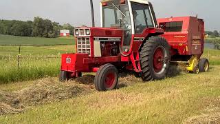 ih 1086 baling w nh 648 baler part 4