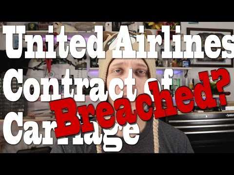 Did United Airlines BREACH their Contract of Carriage by forcing man off plane?