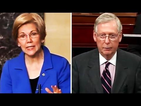 Elizabeth Warren Silenced After Reading Coretta Scott King