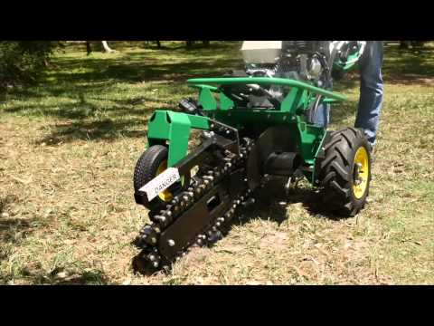 Hire Small Trencher Rent Small Trencher - YouTube