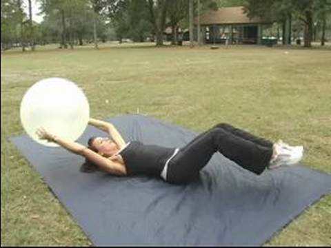 How to Use an Exercise Ball : How to do V-Ups on an Exercise Ball