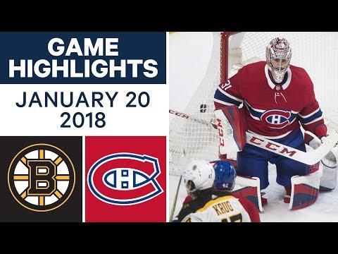 NHL game in 4 minutes: Bruins vs. Canadiens