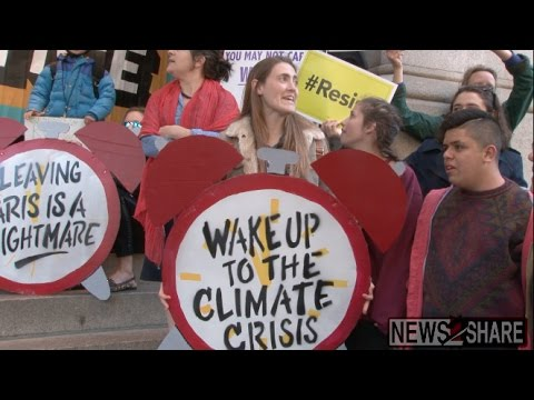 "Climate Activists ""Wake Up Trump Hotel"" and EPA"