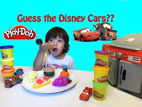 Thumbnail: Play Doh Surprise Toys Disney Cars Guessing Game Guess who Lightning McQueen