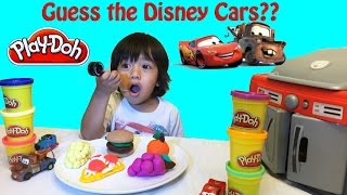 Play Doh Surprise Toys Disney Cars Guessing Game Guess who Lightning McQueen thumbnail
