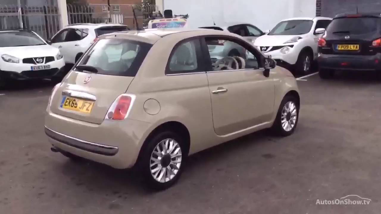 fiat 500 pop star beige buff 2015 youtube. Black Bedroom Furniture Sets. Home Design Ideas