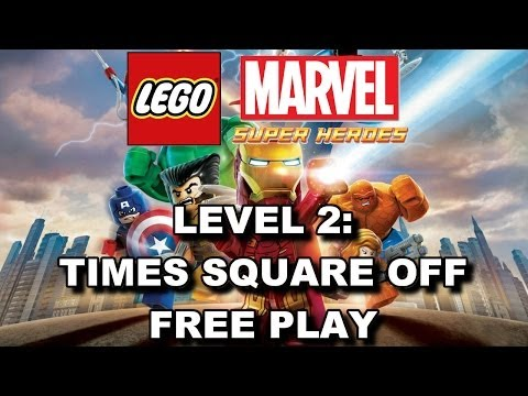 LEGO Marvel Super Heroes: Level 2 Times Square Off FREE PLAY (All Minikits & Stan Lee in Peril)