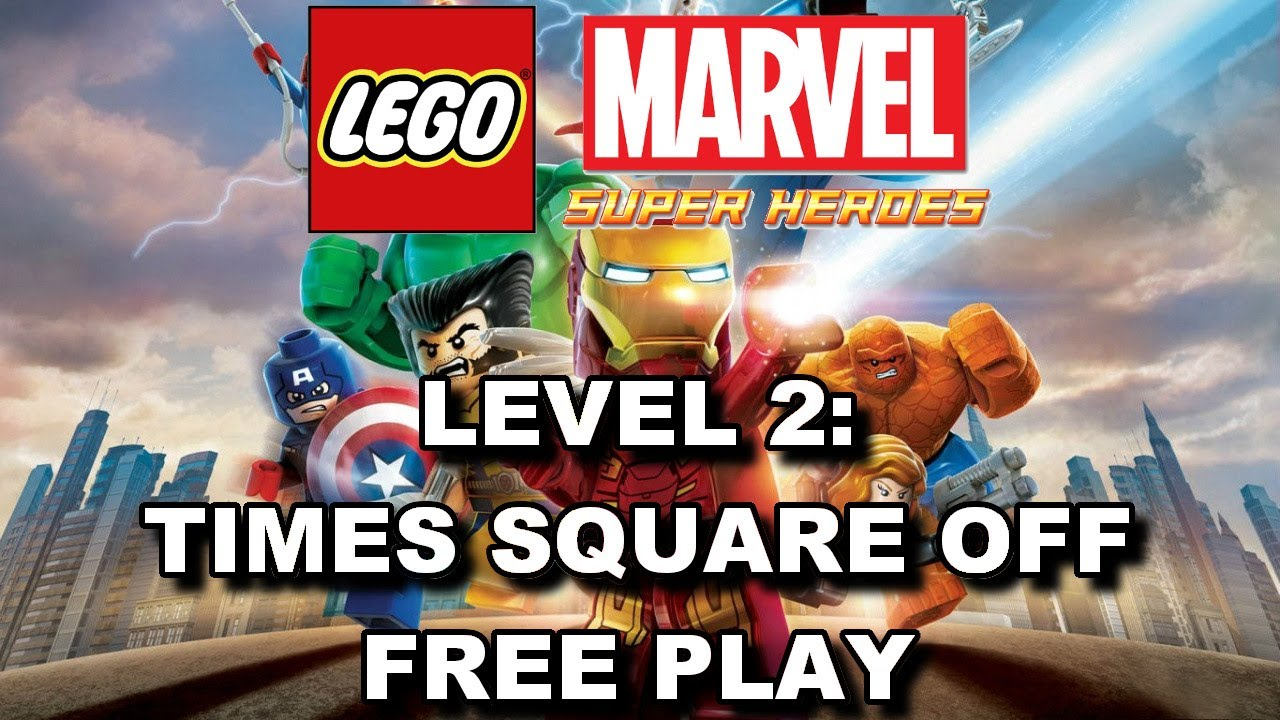 Lego Marvel Super Heroes Level 2 Times Square Off Free Play All Minikits Stan Lee In Peril Youtube
