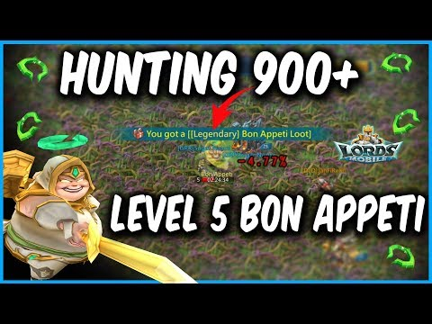 Hunting 900 Level 5 Monsters In 60 Mins - Lords Mobile