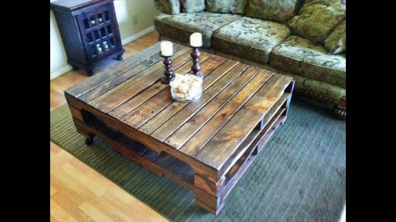 Pallet wood coffee table recycled wood pallets furniture youtube pallet wood coffee table recycled wood pallets furniture geotapseo Image collections