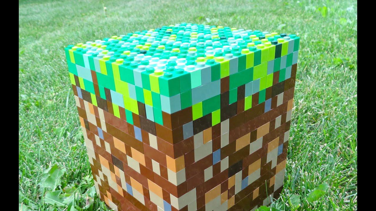 LEGO Grass Block  Minecraft  YouTube