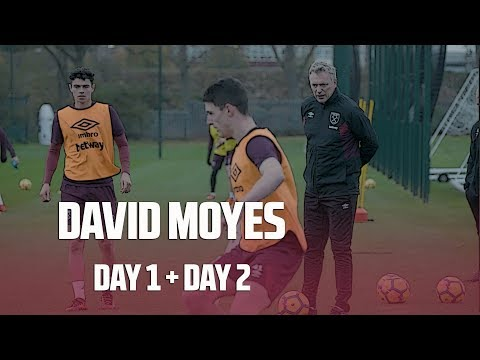 DAVID MOYES TAKES HIS FIRST TRAINING SESSIONS