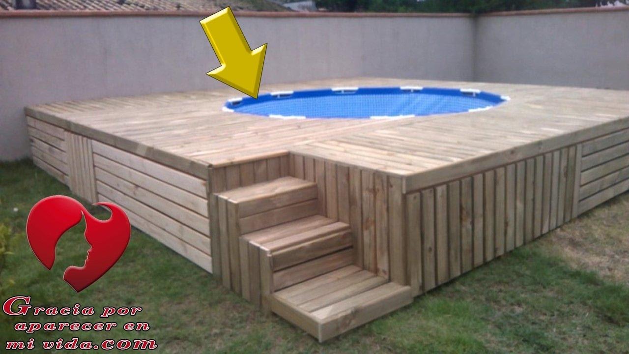 Mira como puedes hacer una maravillosa piscina en el patio de tu casa con poco dinero youtube - Como se hace una piscina ...