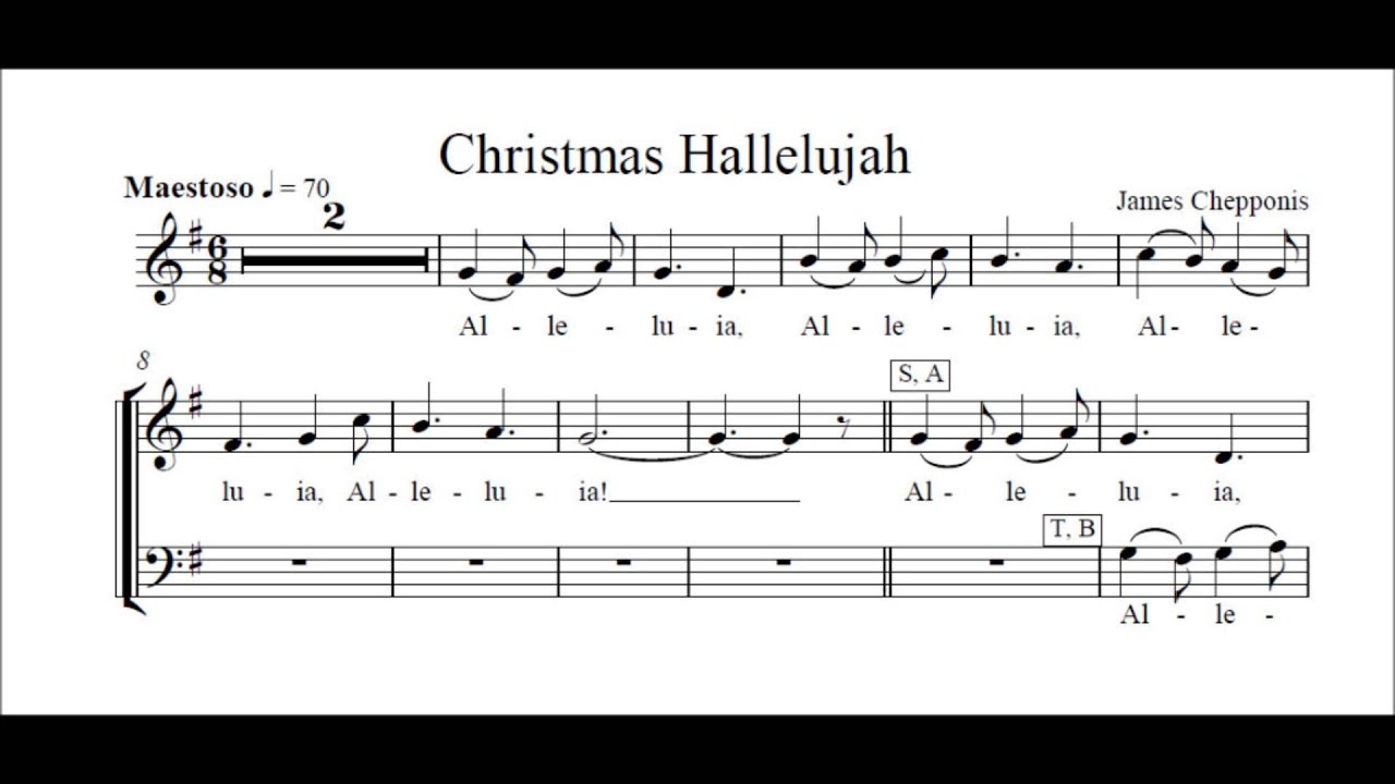 Christmas Alleluia - Chepponis - rehearsals altos - YouTube