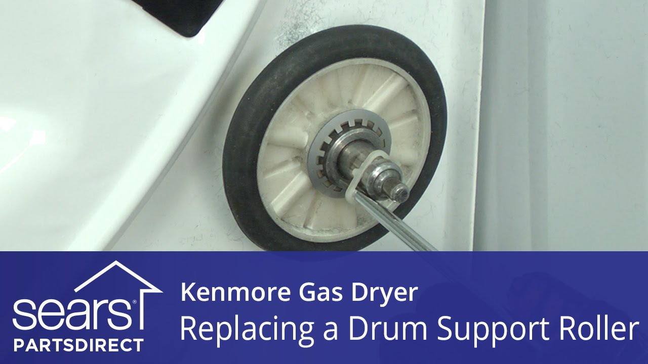 How To Replace A Kenmore Gas Dryer Drum Support Roller